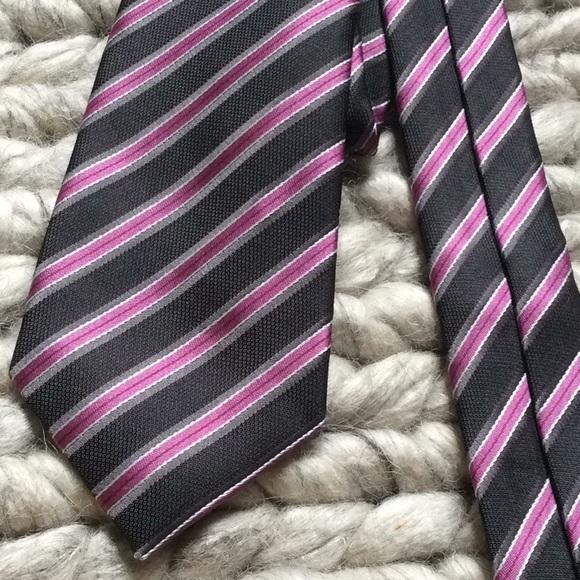 Geoffrey Beene Other - Geoffrey Bean Purple Diagonal Stripe Skinny Tie